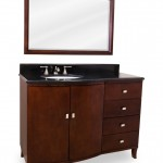 Bowed front Vanity with Black top