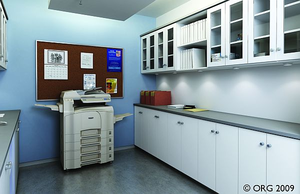White Commercial Office